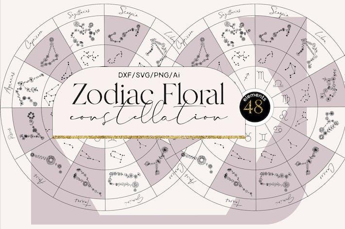 Sternzeichen-Blumenkonstellation