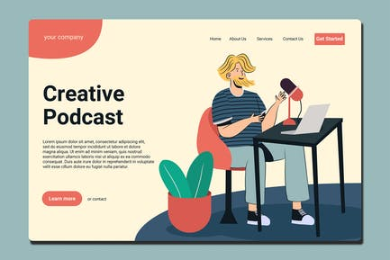 Podcast - Landing Page