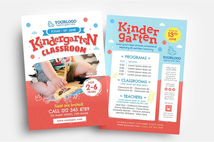 Thumbnail for Kindergarten Flyer Template