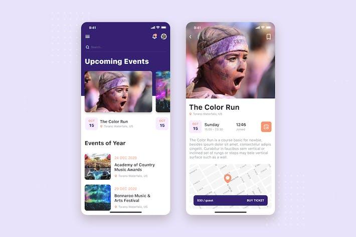 Thumbnail for Event app mobile UI Concept