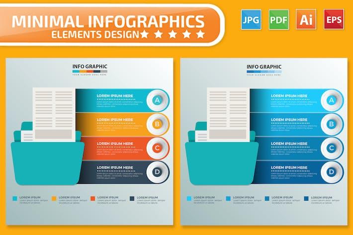 Thumbnail for Folder Infographics design