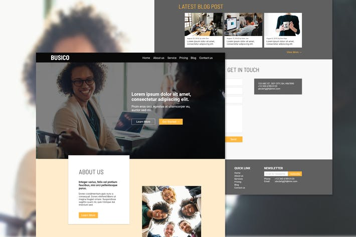 Cover Image For Busico Business Consultant Homepage