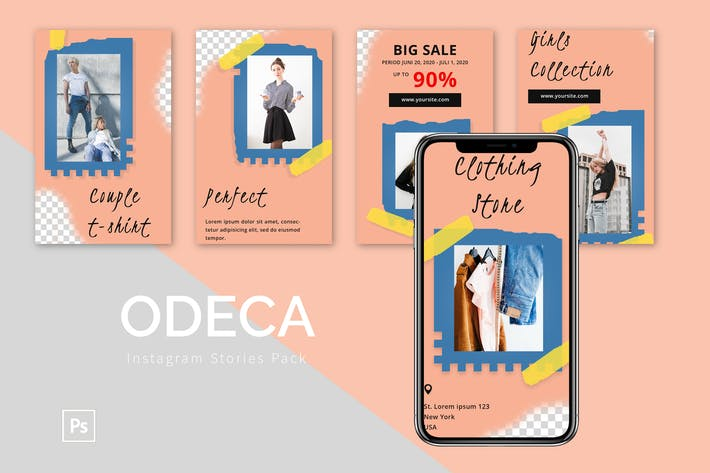 Odeca - Instagram Template Pack