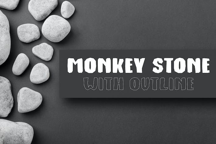 Thumbnail for Monkey Stone - Display Font