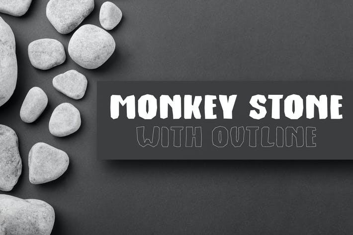 Thumbnail for Monkey Stone - Display Font