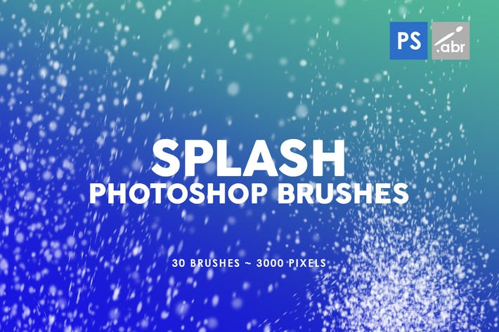 Thumbnail for 30 Splash Photoshop Stamp Brushes