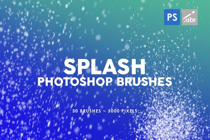 Thumbnail for 30 Pinceles para sellos Salpicón Photoshop