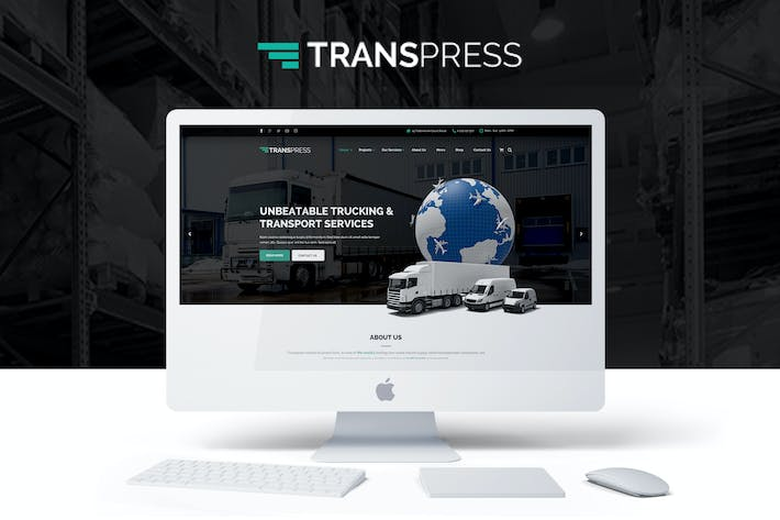Cover Image For Transpress - Transport, Logistics & Warehouse PSD