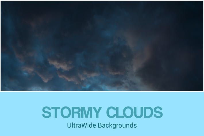 Thumbnail for UltraWide Stormy Clouds Backgrounds Set