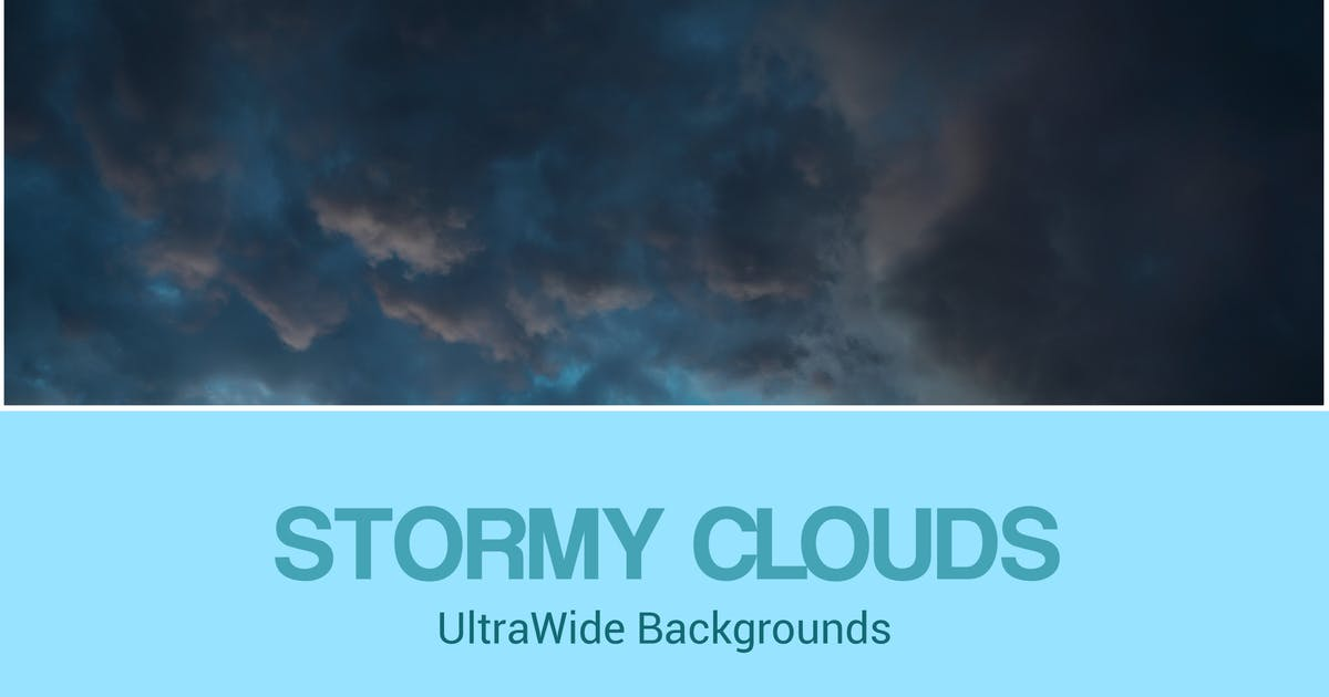 Download UltraWide Stormy Clouds Backgrounds Set by SinCabeza