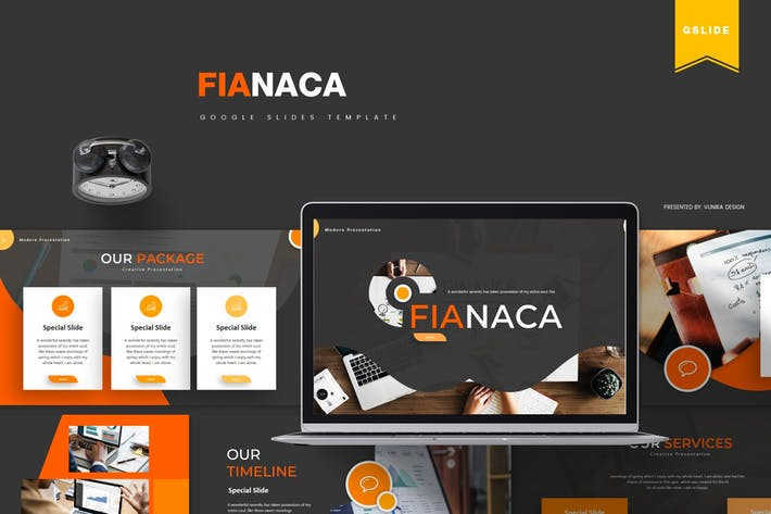 Thumbnail for Fianaca | Google Slides Template