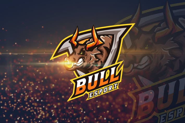 Thumbnail for Bull - AI and PSD eSport Logo Template