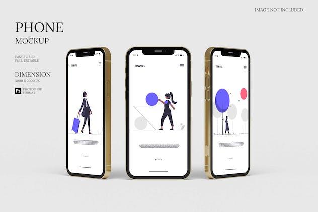 Stylish IPhone 12 - Mockup