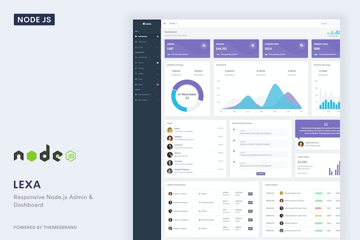 Thumbnail for Lexa - Node.js Admin & Dashboard Template