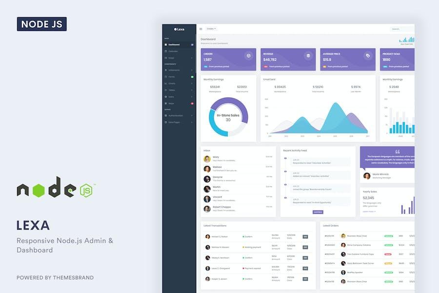 Lexa - Node.js Admin & Dashboard Template