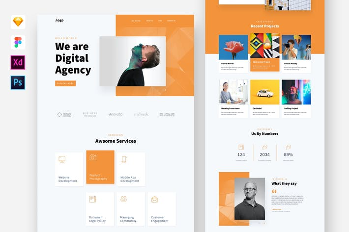 Thumbnail for Digital Agency Website Template