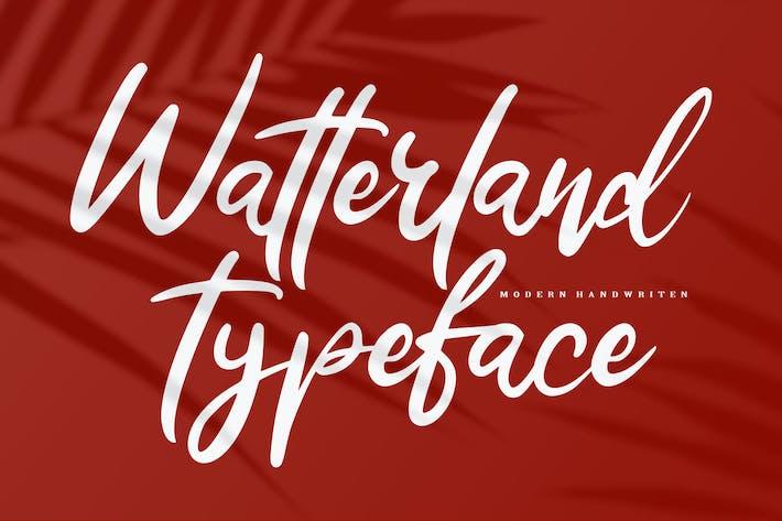 Thumbnail for Watterland Typeface | Modern Handwriten Script