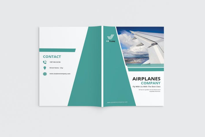 Thumbnail for Jetcore - A4 Airlines Brochure Template
