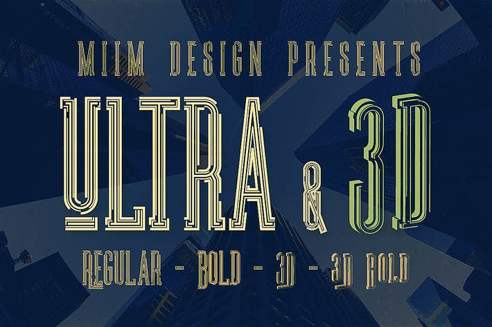 Thumbnail for Ultra - Modern Font