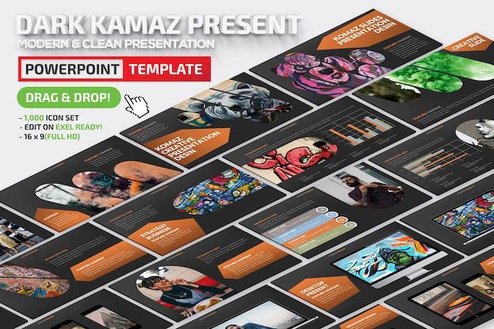 Thumbnail for Презентация Dark Komaz Powerpoint