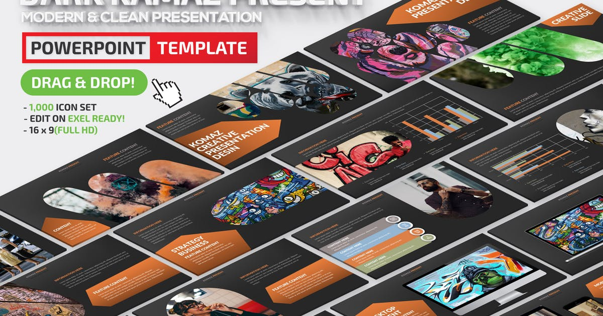 Download Dark Komaz Powerpoint Presentation by mamanamsai