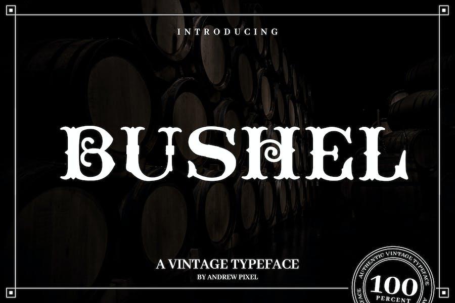 Bushel - A vintage Flourish Font
