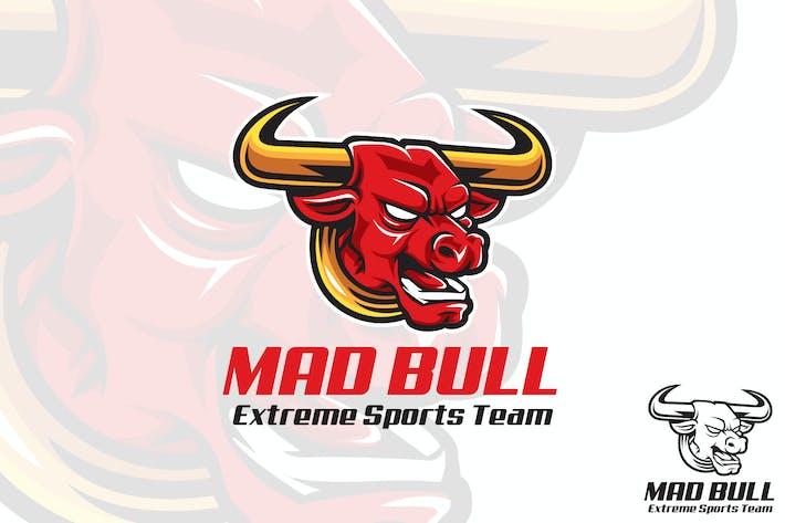 Thumbnail for Mad Bull Vector Logo Mascot