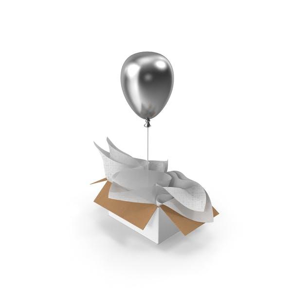Thumbnail for Серебряный воздушный шар Подарочная коробка