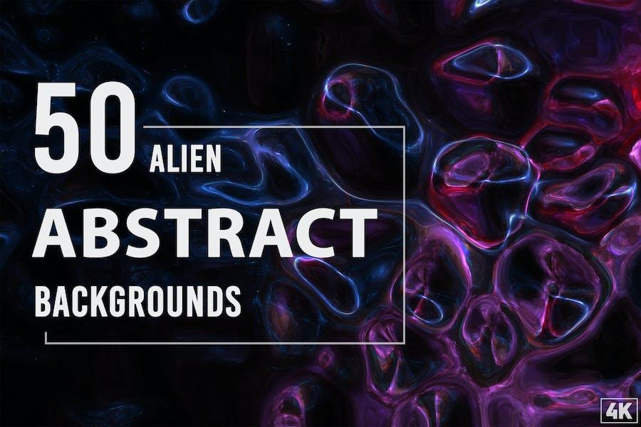 50 Alien Abstrakte Hintergründe