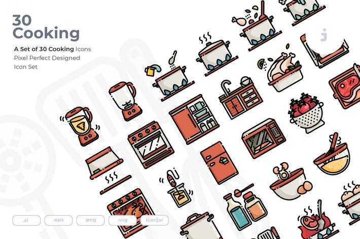 Thumbnail for 30 Cooking Icons