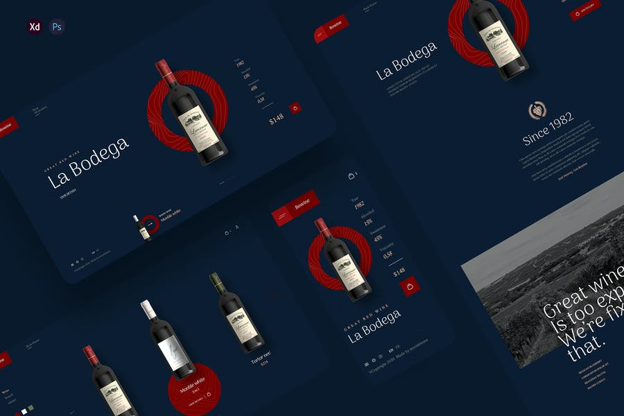 Bowine - Wine store ecommerce template