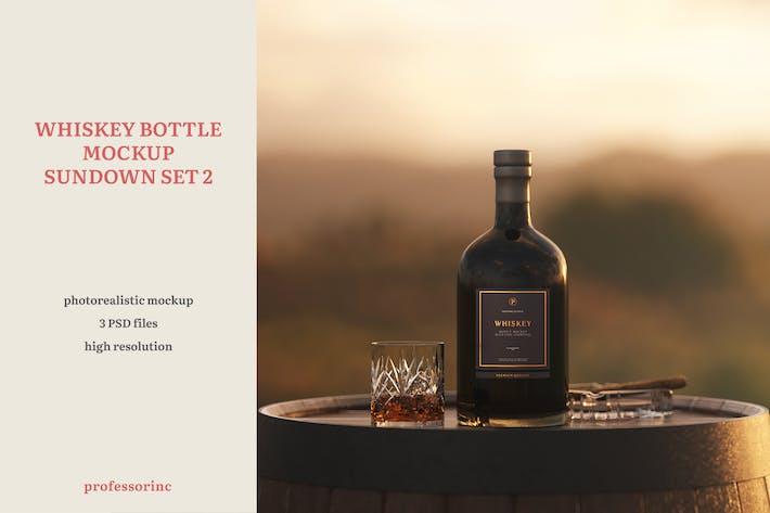 Thumbnail for Whiskey Bottle Mockup - Sundown Set 2