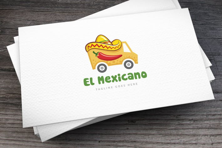 Thumbnail for Texmex Truck Logo Template