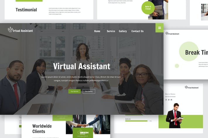 Thumbnail for Virtual Assistant Google Slides Template
