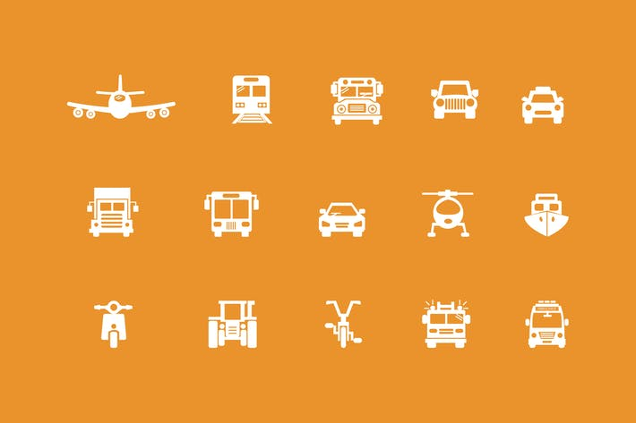 Thumbnail for 15 Transportation Icons