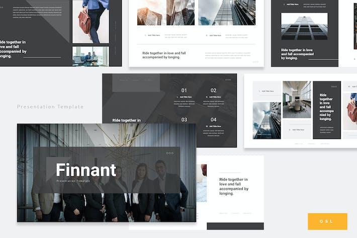 Thumbnail for Finnant - Unternehmens- Finance Google PräsentationsVorlage