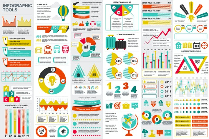 Thumbnail for Set Infographic Elements Template
