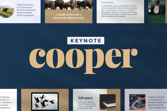 Thumbnail for Cooper — Keynote Presentation Template