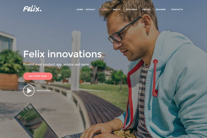 Thumbnail for Felix. - App, WordPress Onepage Theme