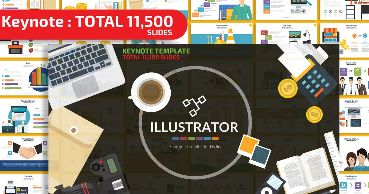 Download Illustrator Keynote Presentation Templates by mamanamsai