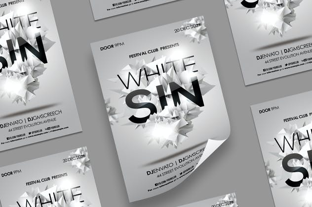 White Polygon Flyer