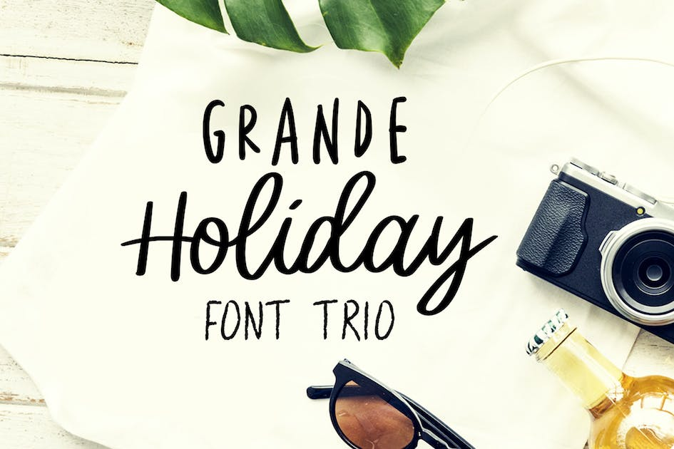 Download Grande Holiday - Font Trio by StringLabs