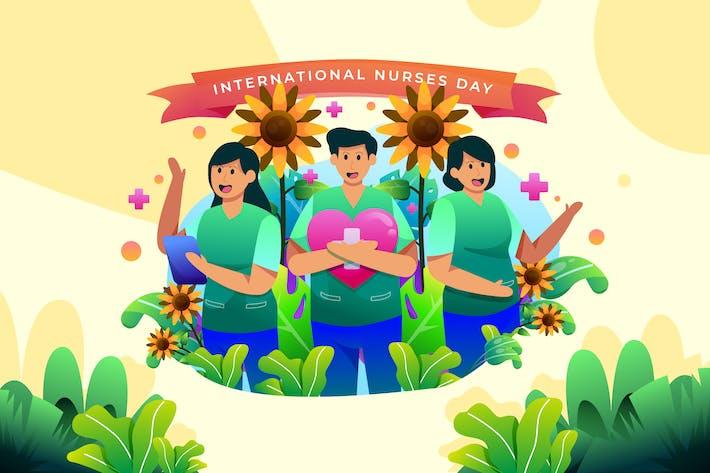 International Nurses Day - Vector Illustration