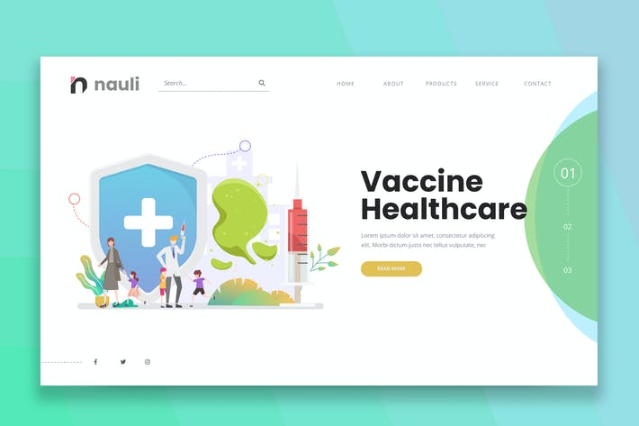 Thumbnail for Children Vaccine Healthcare Web PSD and AI Vector