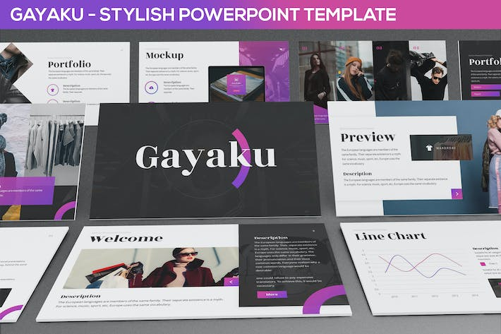 Cover Image For Gayaku - Stylish Powerpoint Template