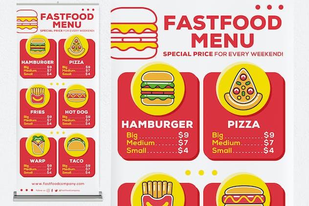 Fastfood Menu Roll Up Banner