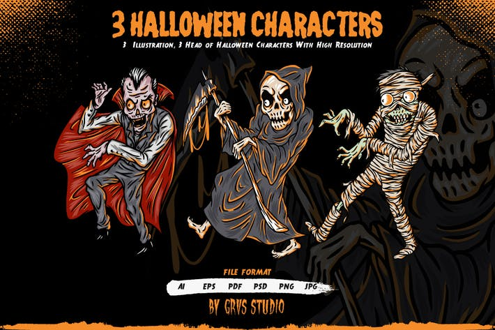 Thumbnail for 3 Halloween Characters