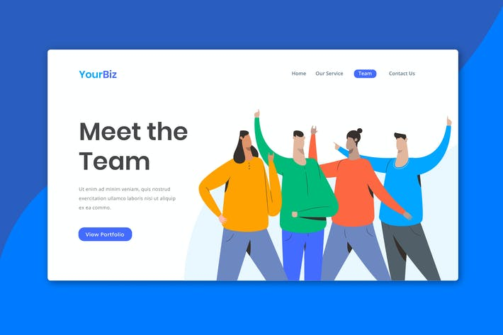 Team Section Landing Page