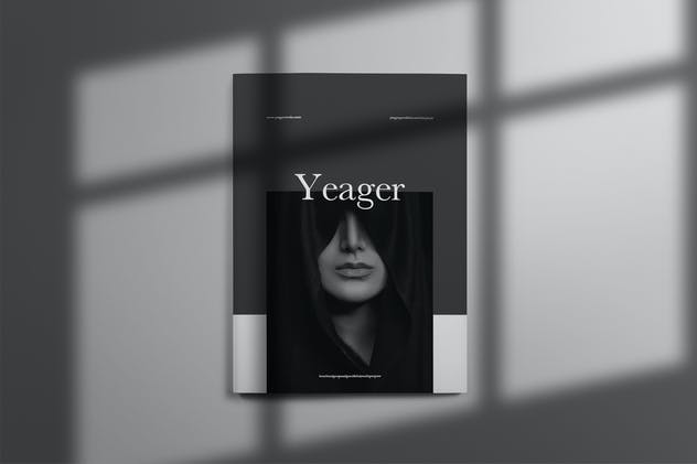 Yeager - Brochure Template Indesign - product preview 0