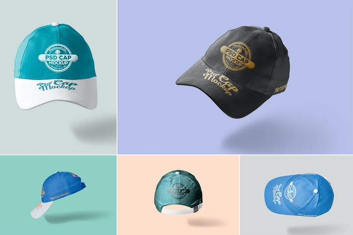 Thumbnail for 5 Baseball Cap Mockups